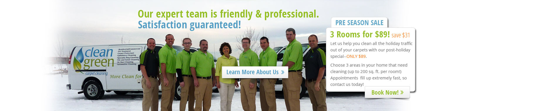 Clean Green Carpet Cleaning Team