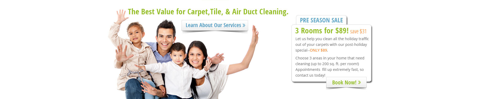 Carpet, Tile & Air Duct Cleaning