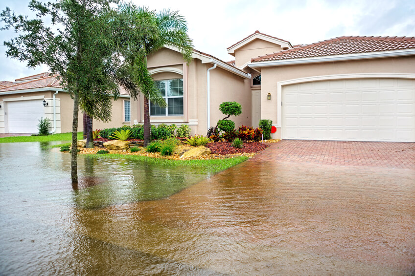 flooding from a hurricane or tropical storm