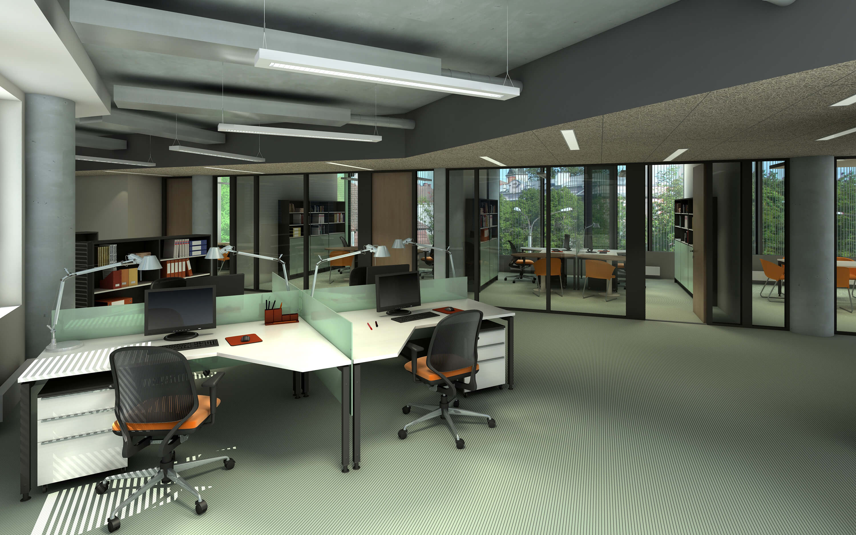 Image of office building that used Orem commercial carpet cleaning